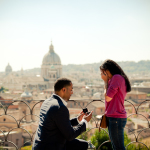 Beautiful Surprise Engagement in Rome